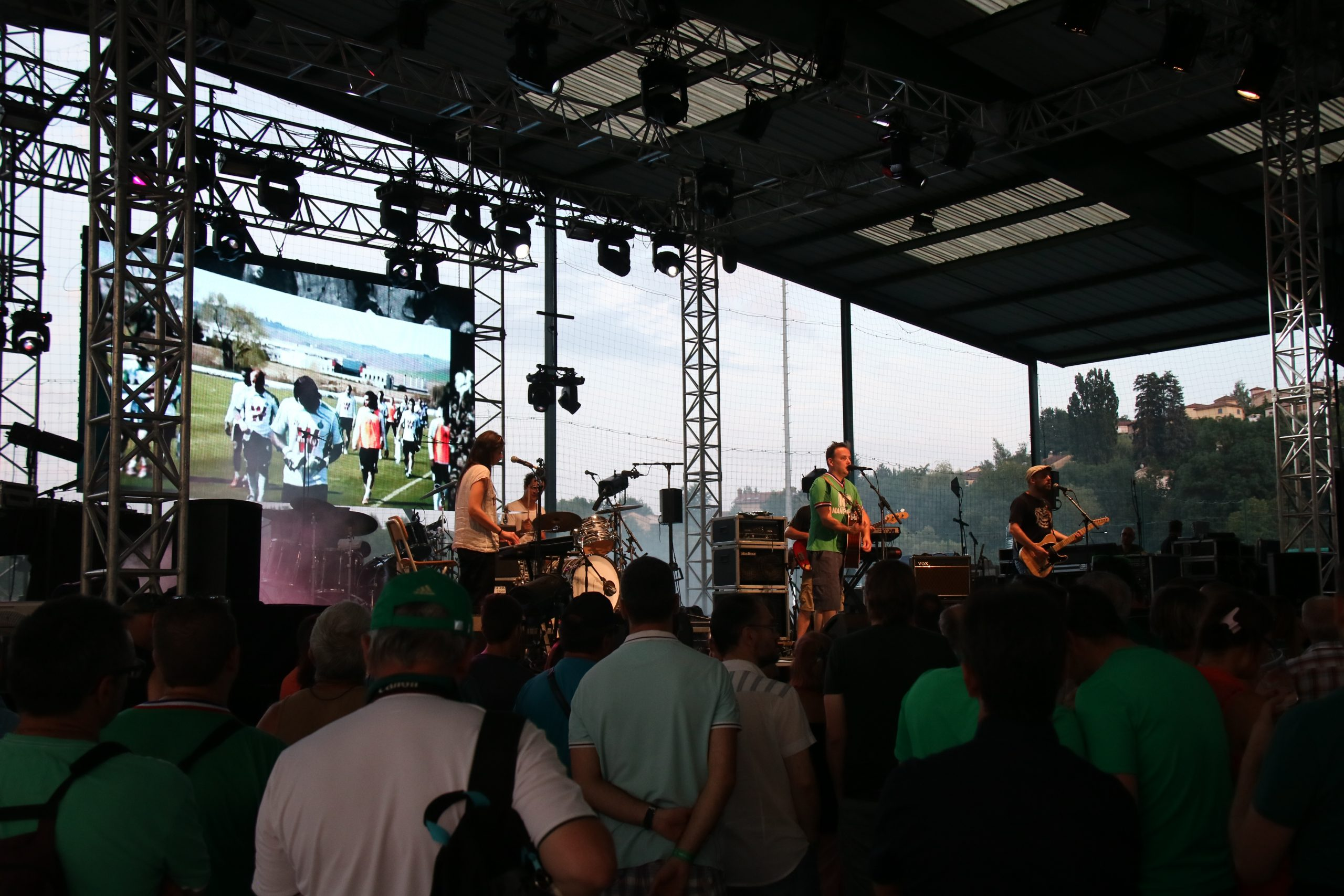 Concert avec écran géant