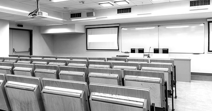 Education salle de cours blackwhite