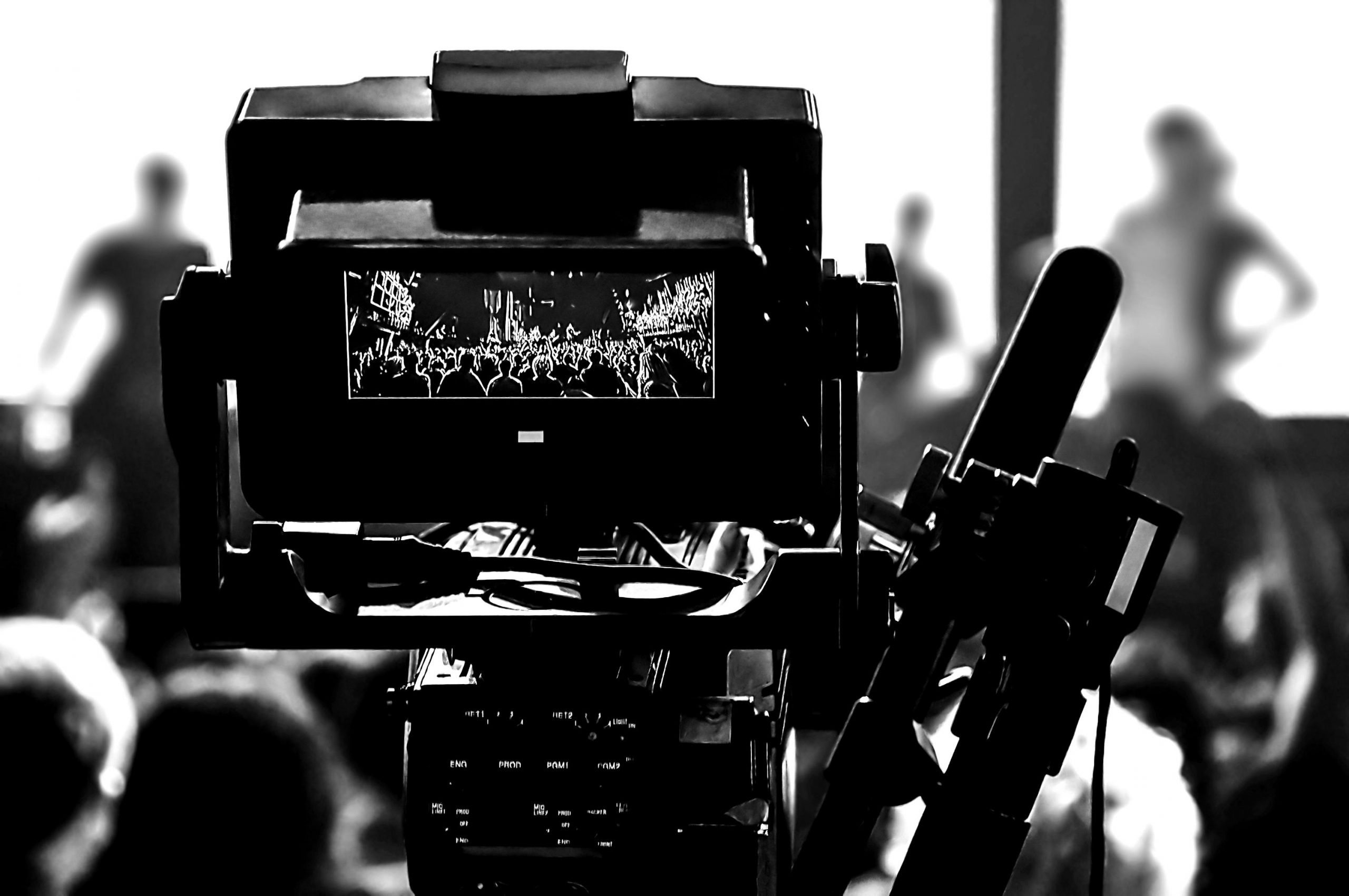 Captation vidéo shooting concert professional camera view of the PTN8AQM blackwhite scaled